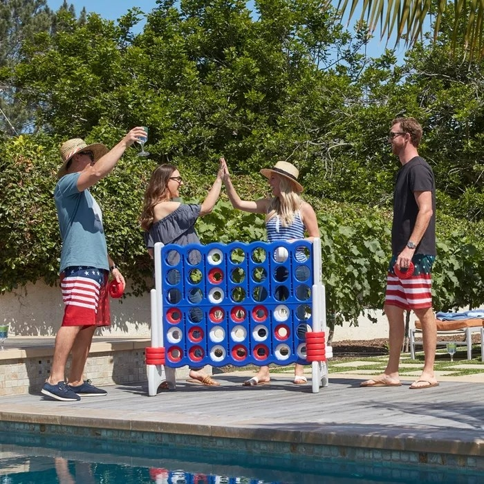 Models playing the 4-in-a-row game outside