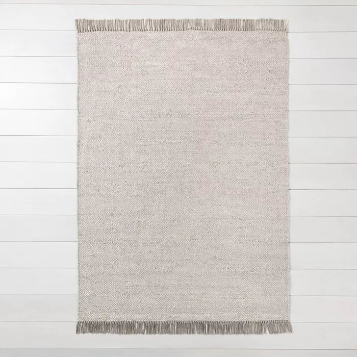 The jute rug in gray