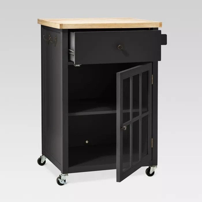 The black kitchen cart