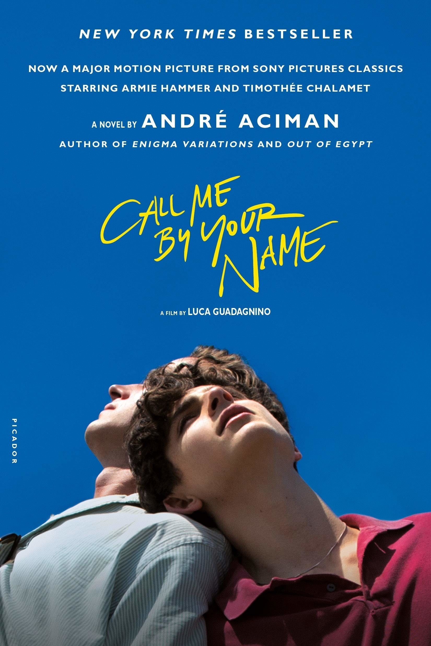 the cover of call me by your name by andre aciman