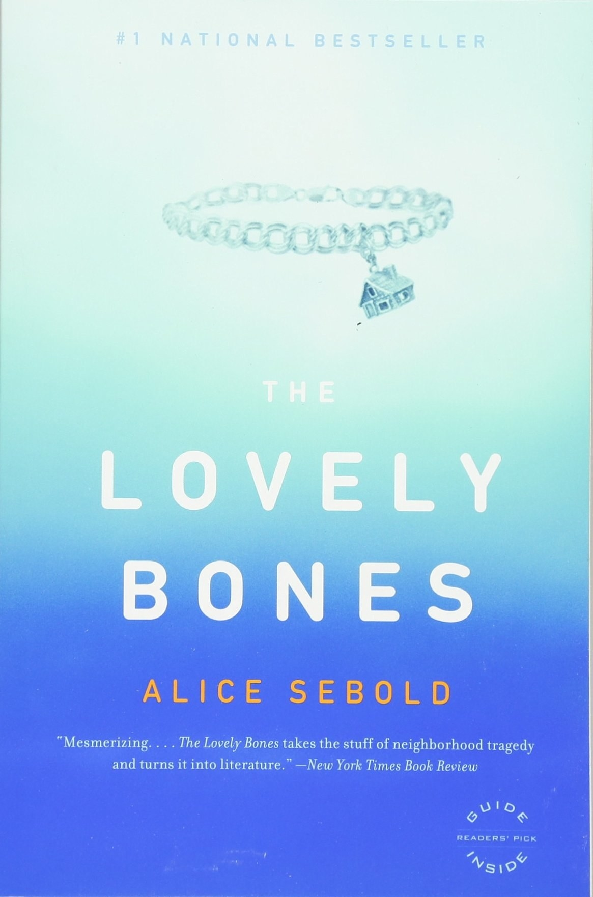 the cover of the lovely bones by Alice sebold
