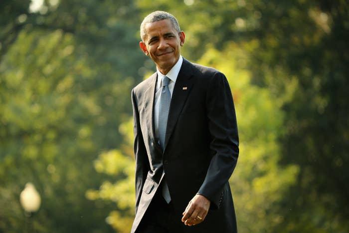 President Barack Obama outside the White House in 2015