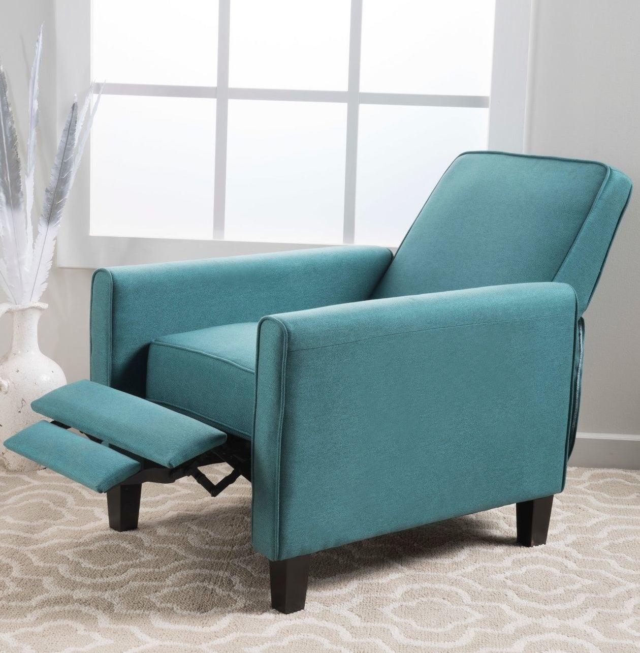 teal recliner