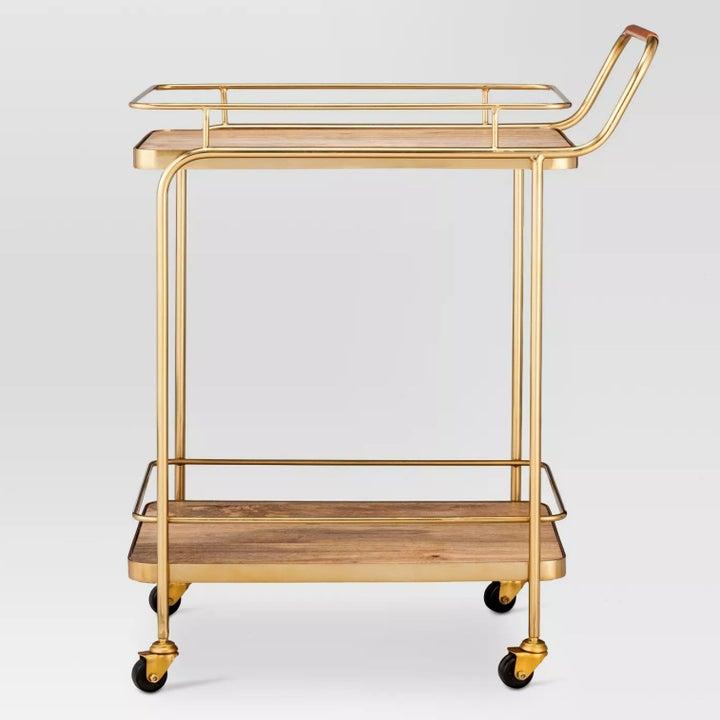 The gold bar cart