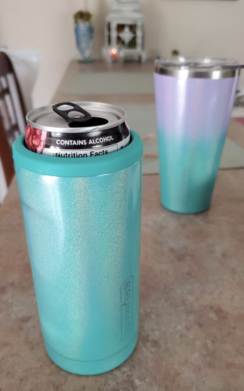 Reviewer image of a sparkly blue version of the insulator