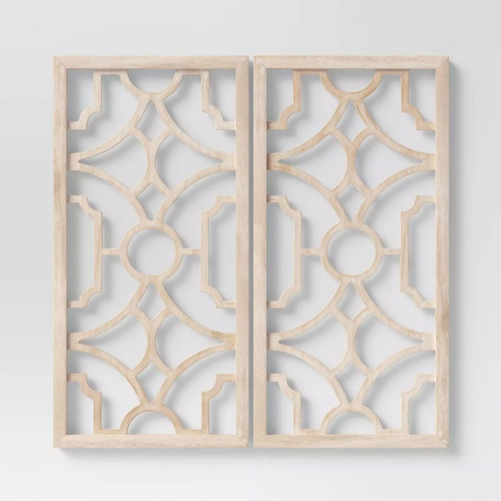 Two wood lattices