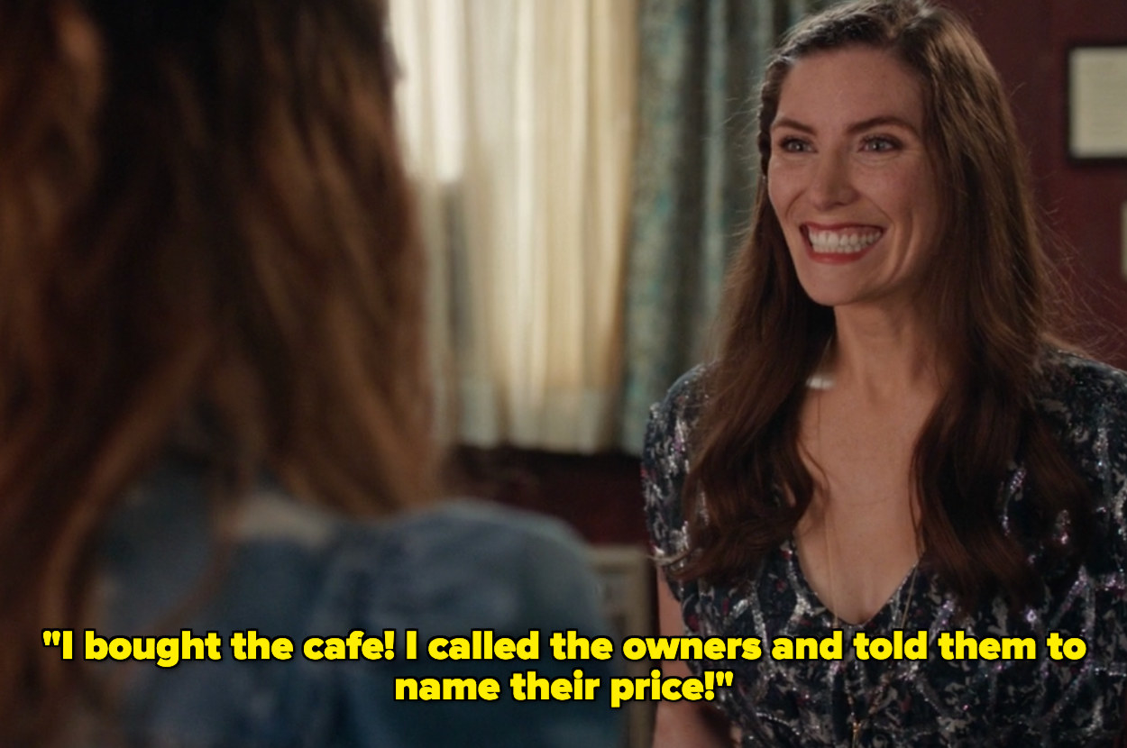 Twyla saying she bought the cafe