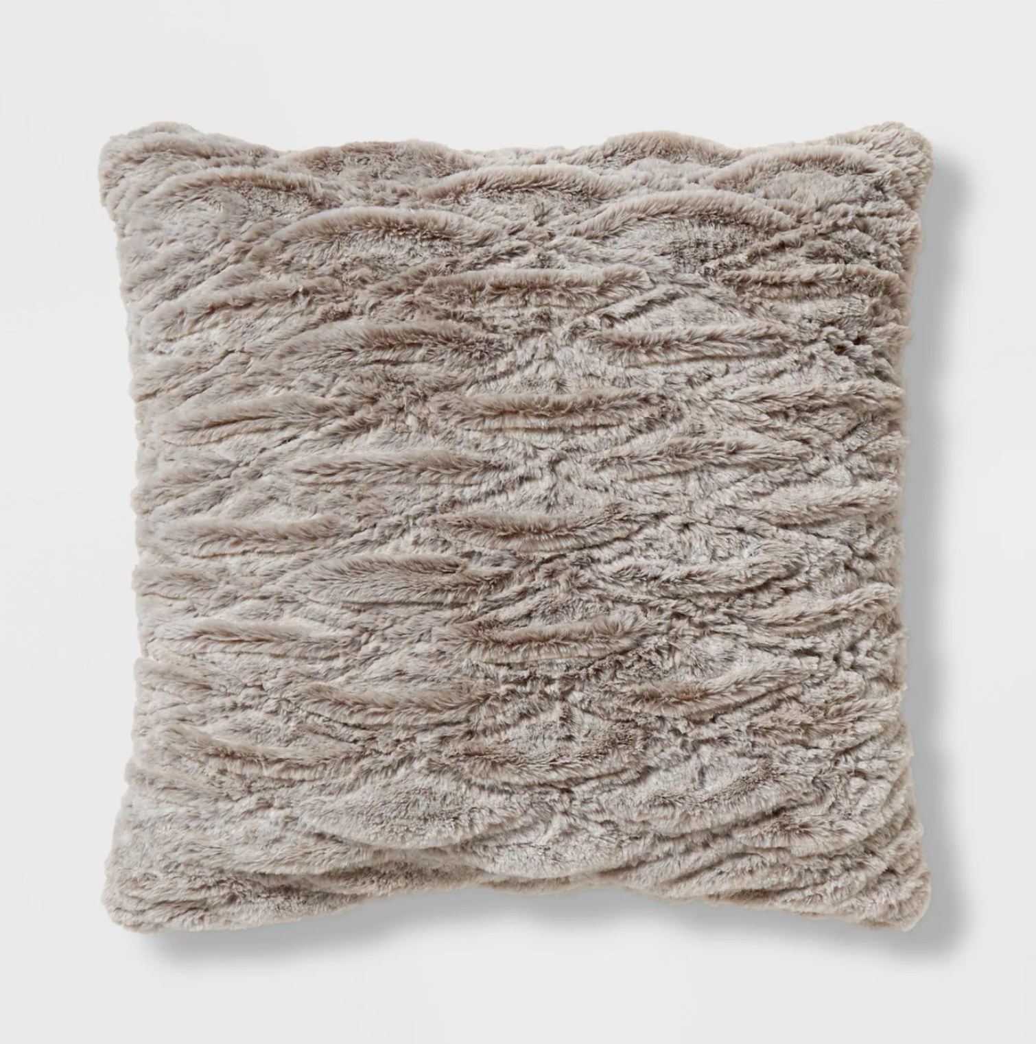 The pillow in beige