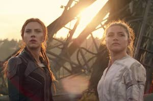 Natasha Romanoff side by side with her sister, Yelena