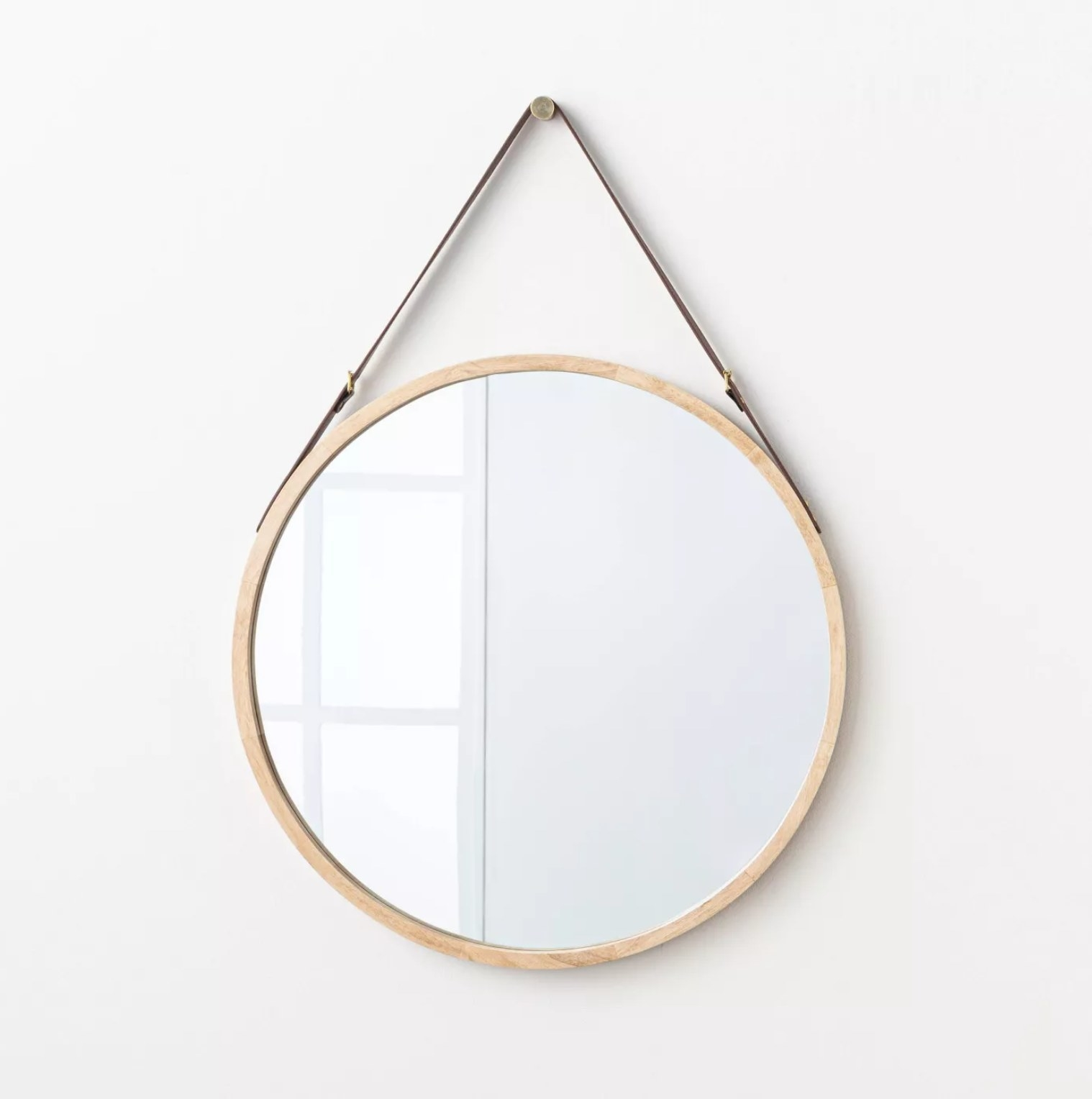 The mirror in natural finish