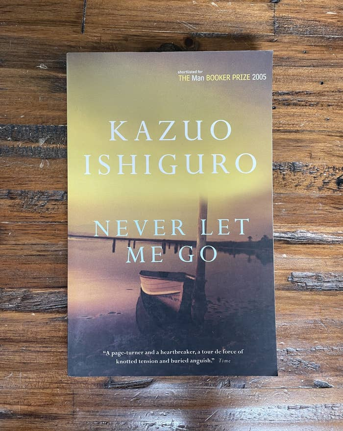 The cover of Never Let Me Go by Kazuo Ishiguro