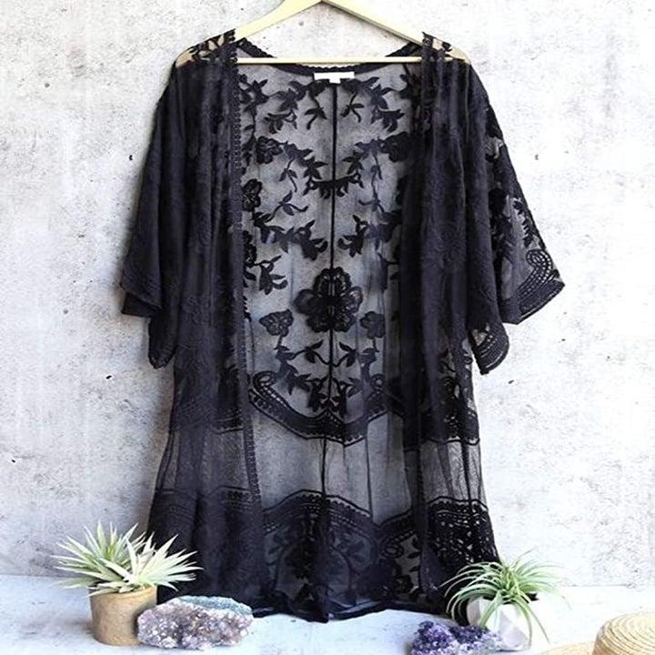 the kimono on a coat hanger