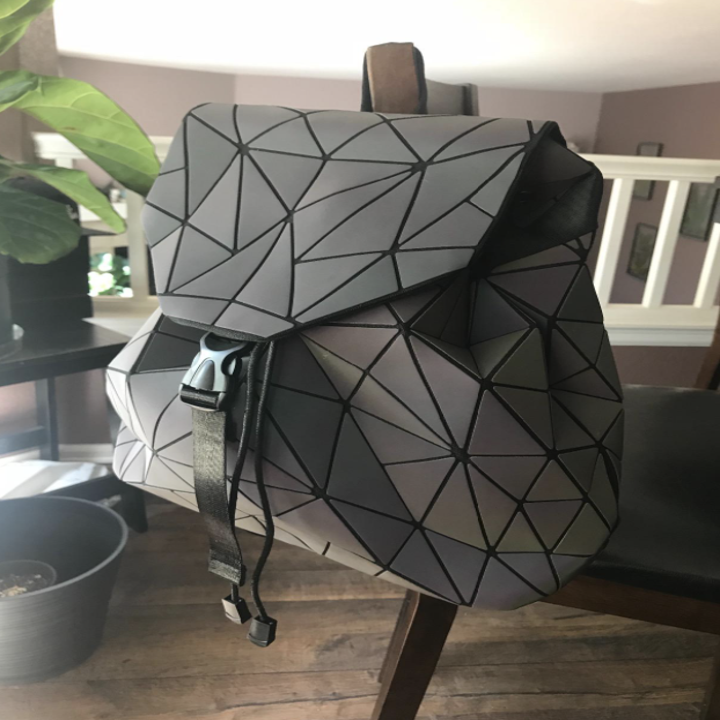 the backpack in daylight looking gray
