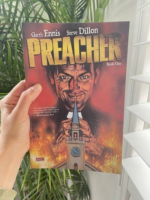 The cover of Preacher book one