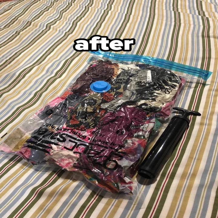 reviewer after image of the vacuum bag sealed flat