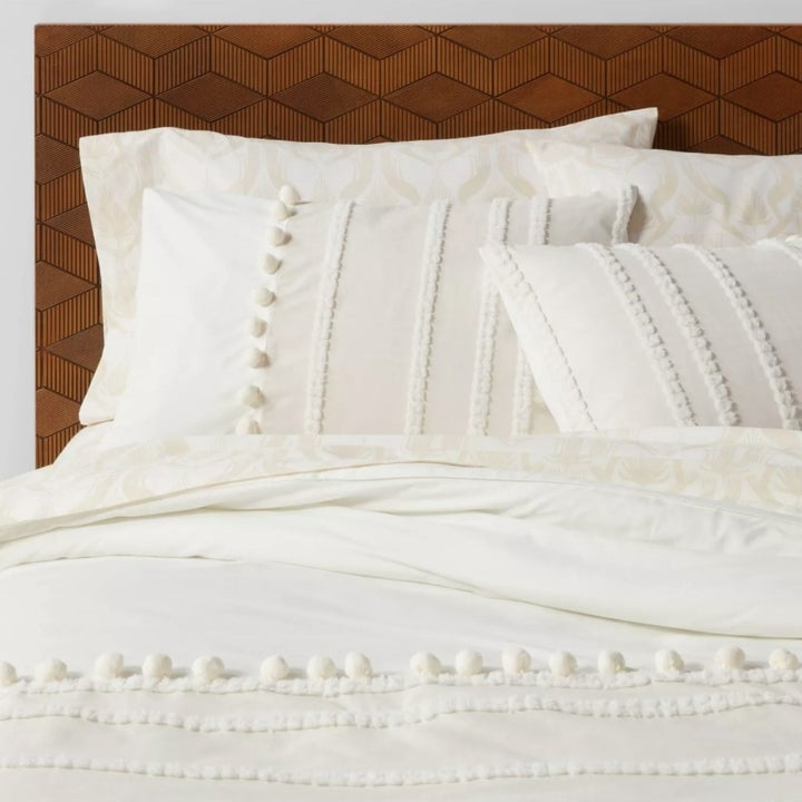 The bedding set close-up on a bed