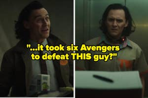 Loki making some very whacky facial expressions with text reading,