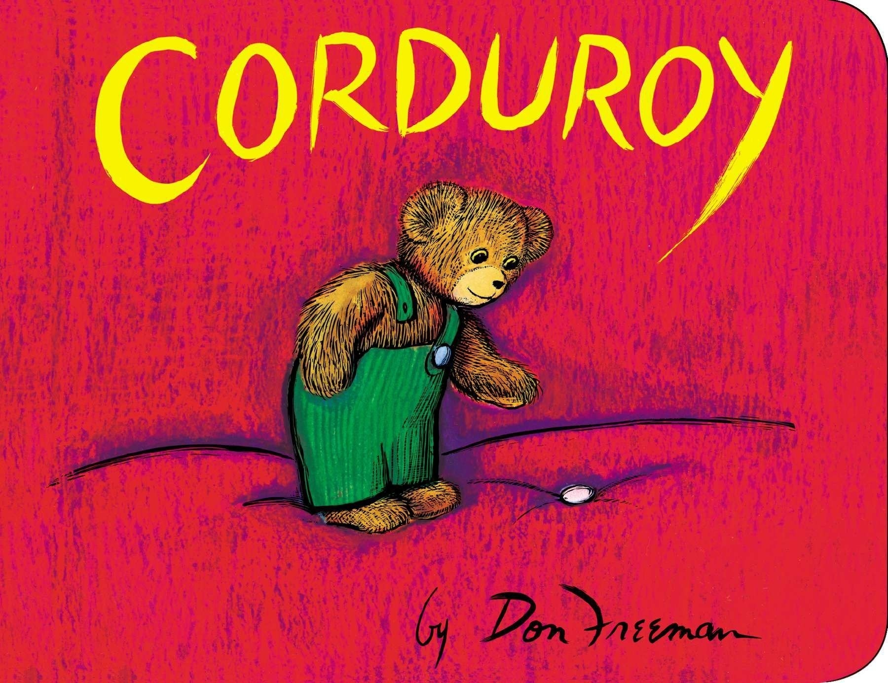 The cover of the classic children's book, Corduroy