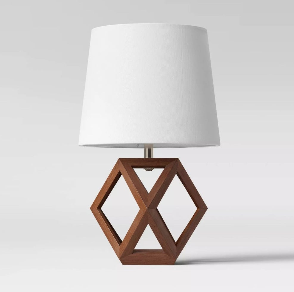 The lamp in dark brown