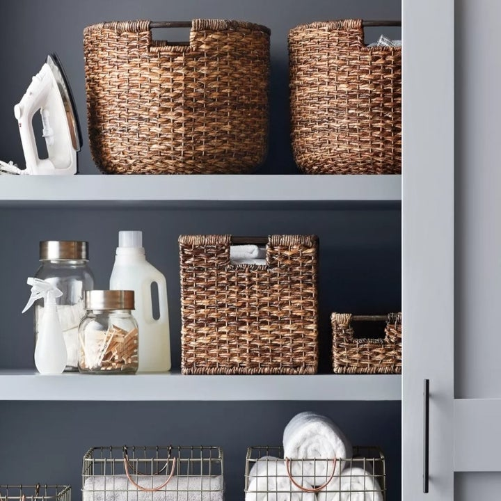 The crate on a shelf