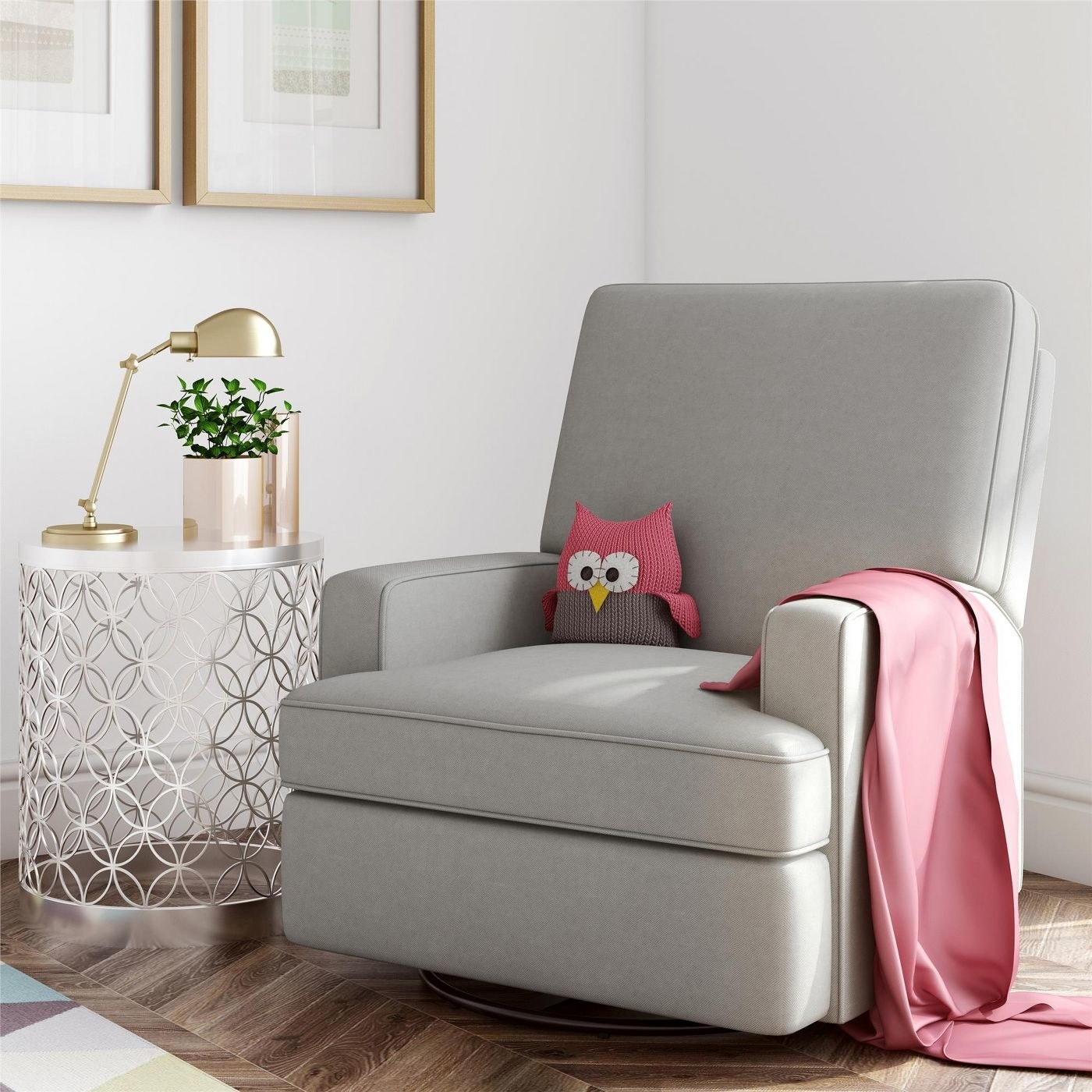 The gray recliner