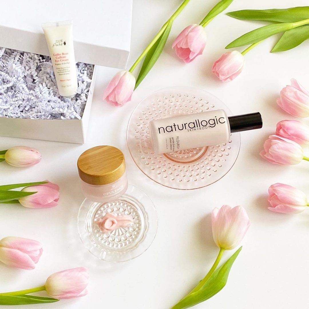 assortment of clean beauty products
