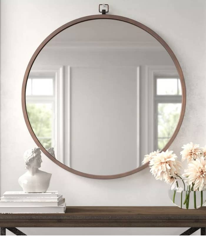 Round wall mounted mirror