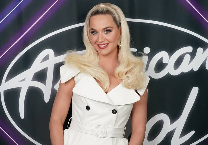 Katy smiles before the taping of American Idol