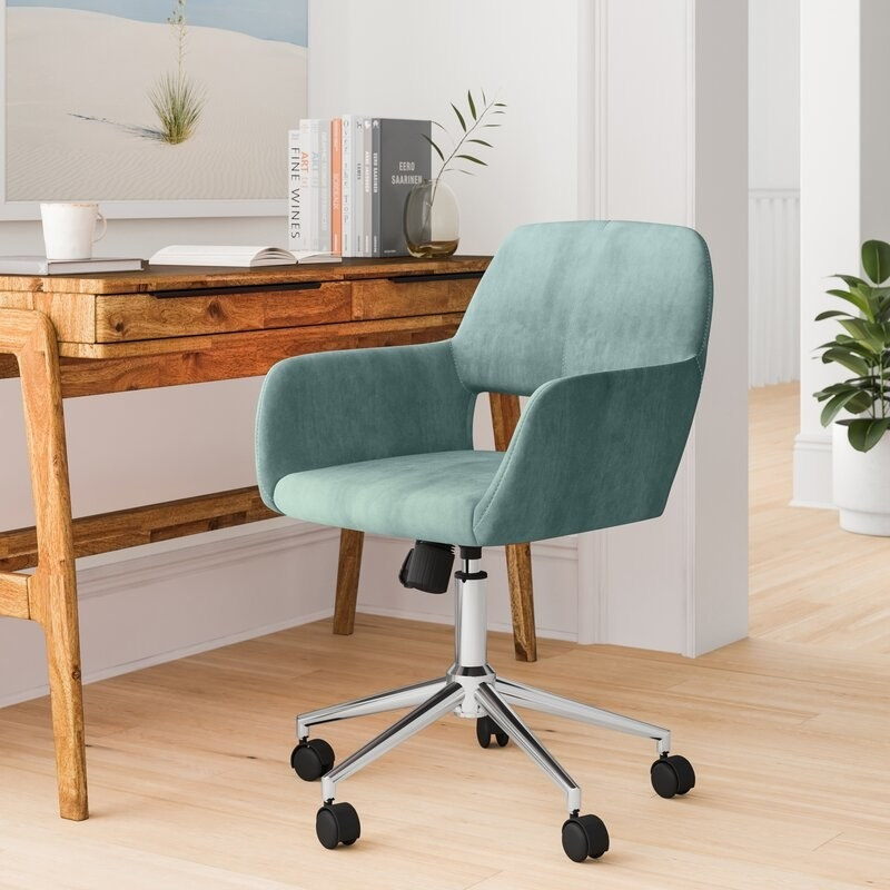 Fashionable desk chair in home office
