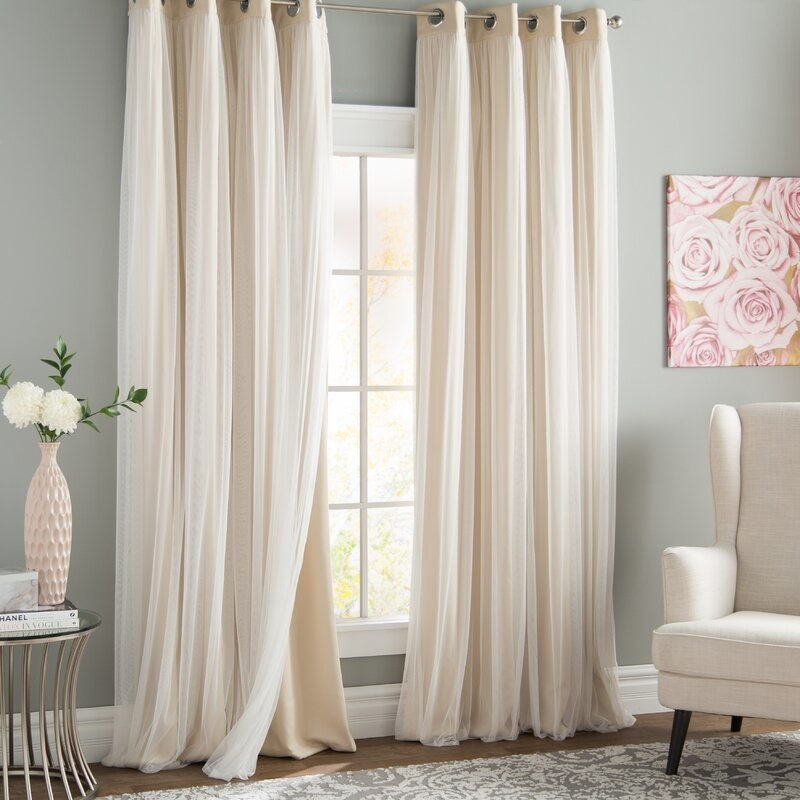 Blackout curtains in living room