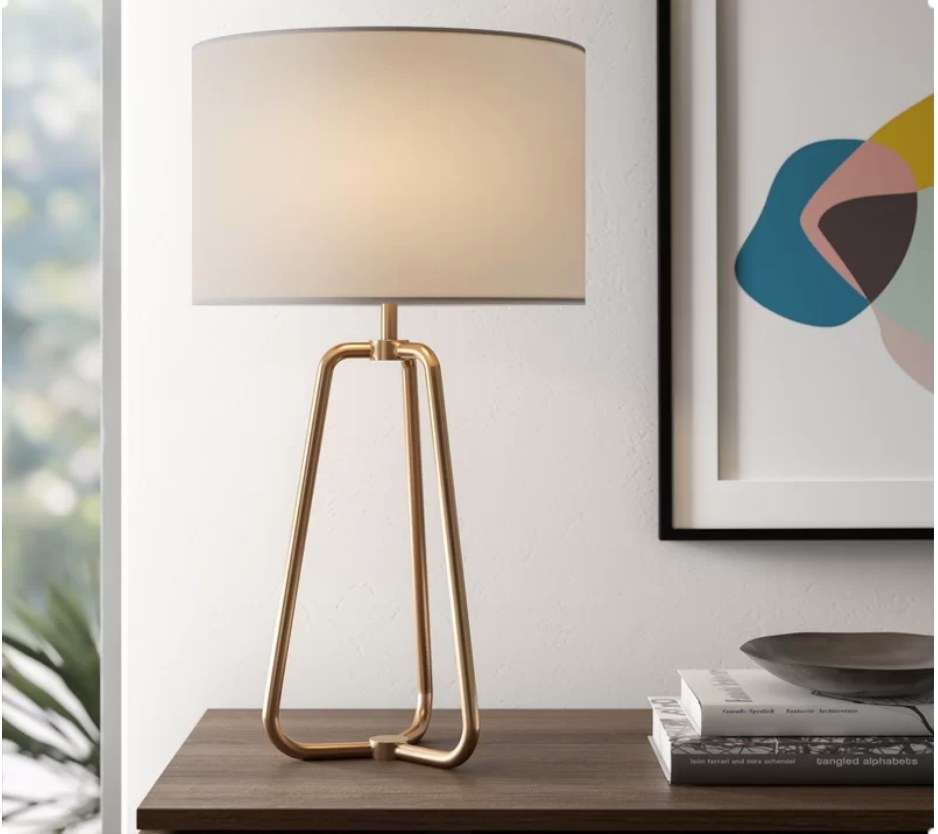 Gold metal base lamp
