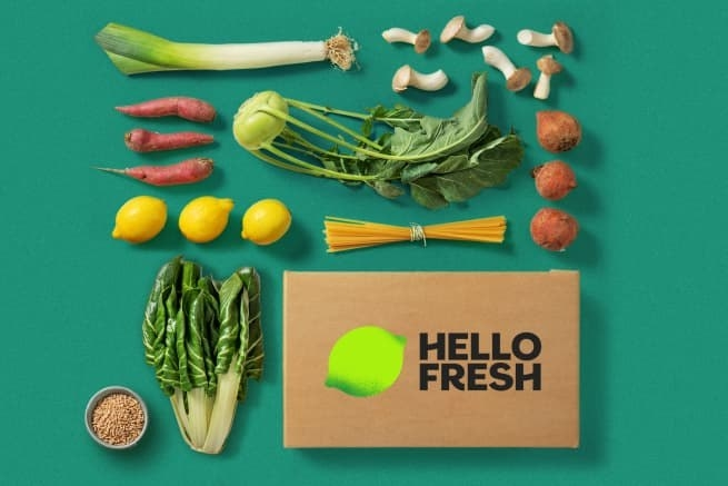 The sustainable packaging of the HelloFresh meal kits