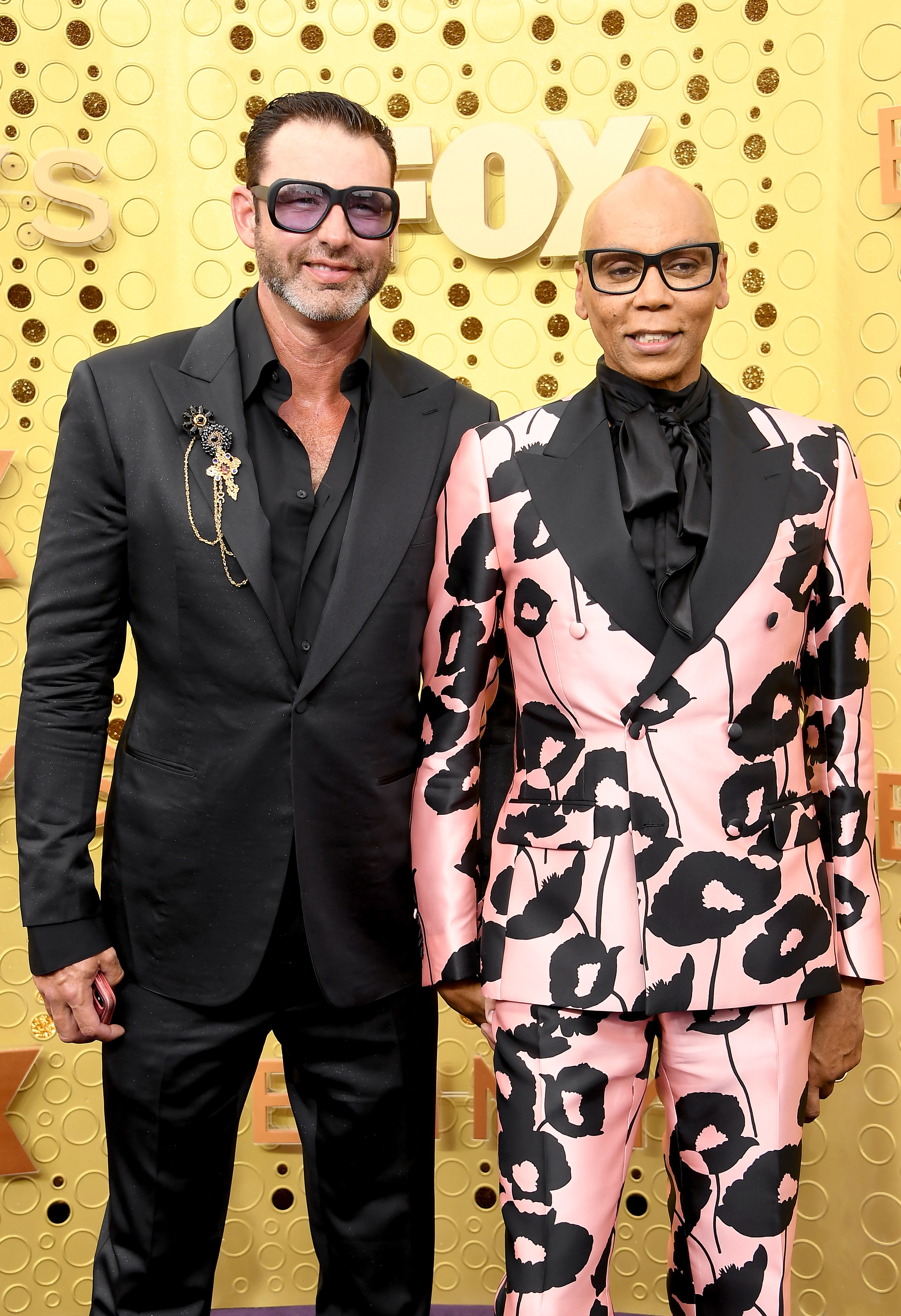 Georges LeBar and RuPaul on the red carpet