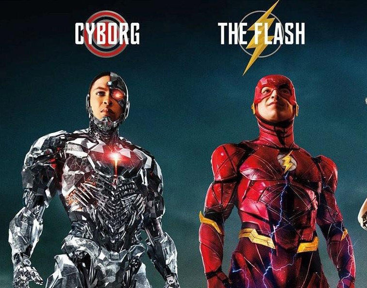 Cyborg and The Flash standing next to one another