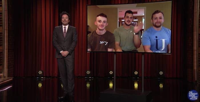 Jimmy Fallon interviewing original TikTok creators