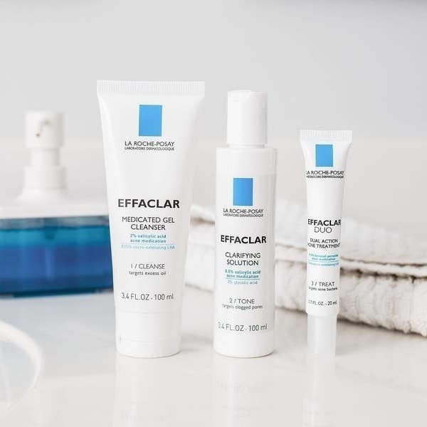 Three products from La Roche-Posay Effaclar line