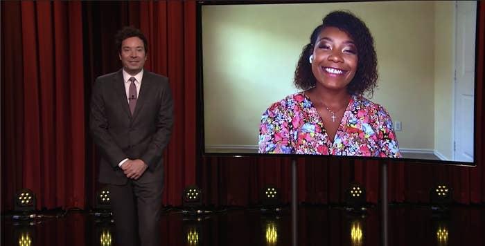 Jimmy Fallon interviewing Keara