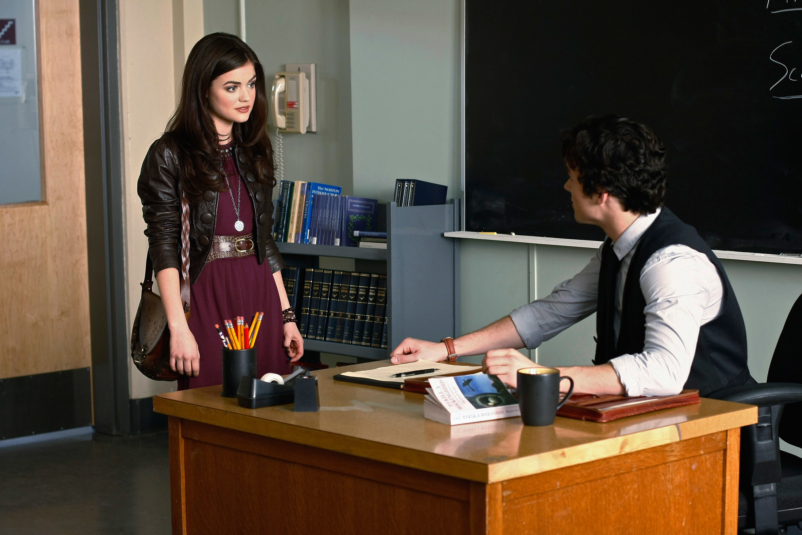 """Aria and Ezra from """"Pretty Little Liars"""""""