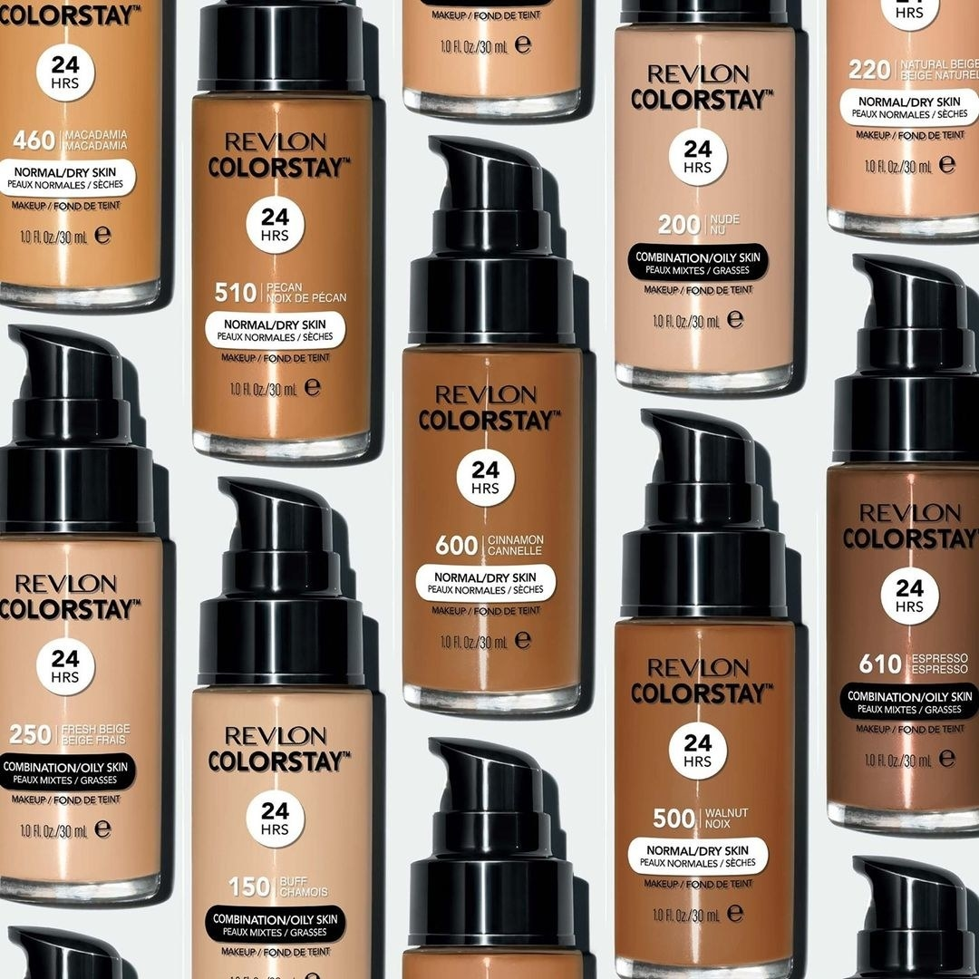 Revlon colorstay foundation bottles in different shades