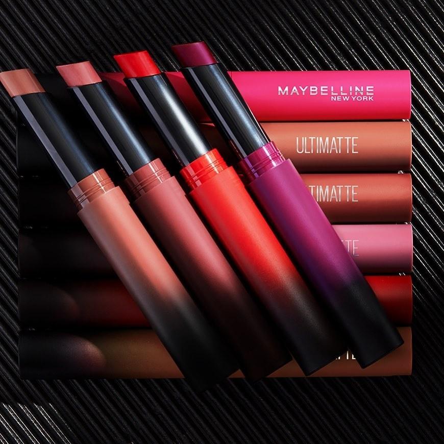 Maybelline Ultimatte lipsticks