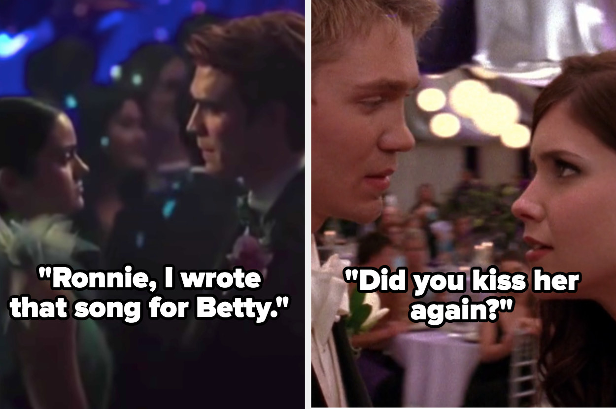 "Archie tells Veronica about cheating on her with Betty on ""Riverdale"" and Brooke finds out about Lucas and Peyton kissing on ""One Tree Hill"""