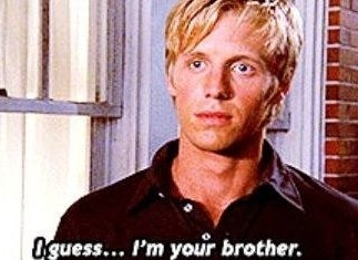 "Derek on ""One Tree Hill"": ""I guess I'm your brother"""