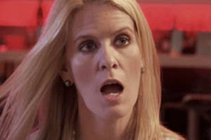 one of the real housewives looking shocked and surprised