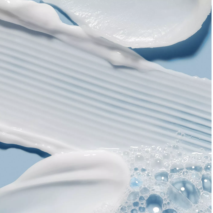 the cleanser making suds on a surface
