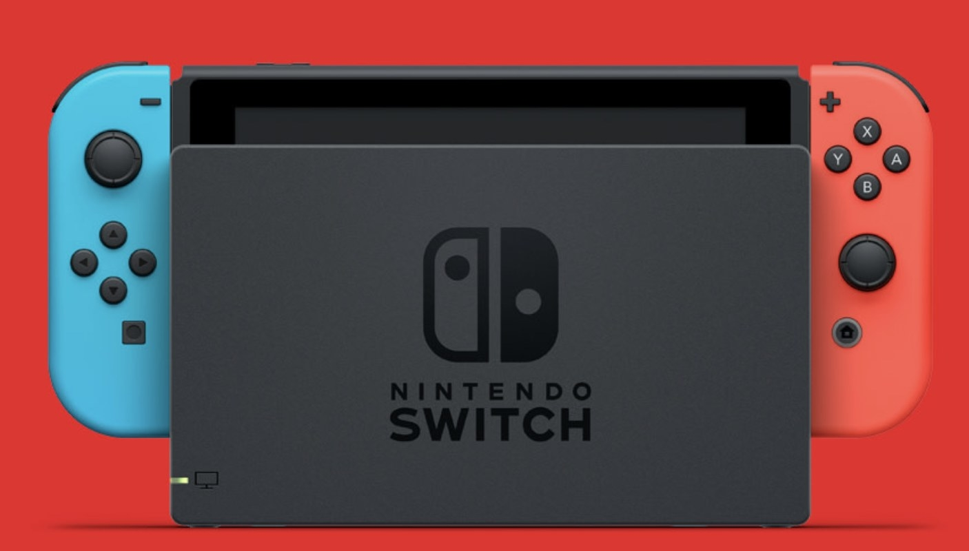 A Nintendo switch gaming console