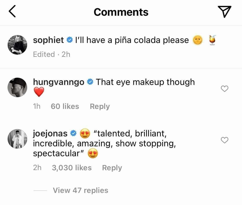 A screenshot of Joe's comment