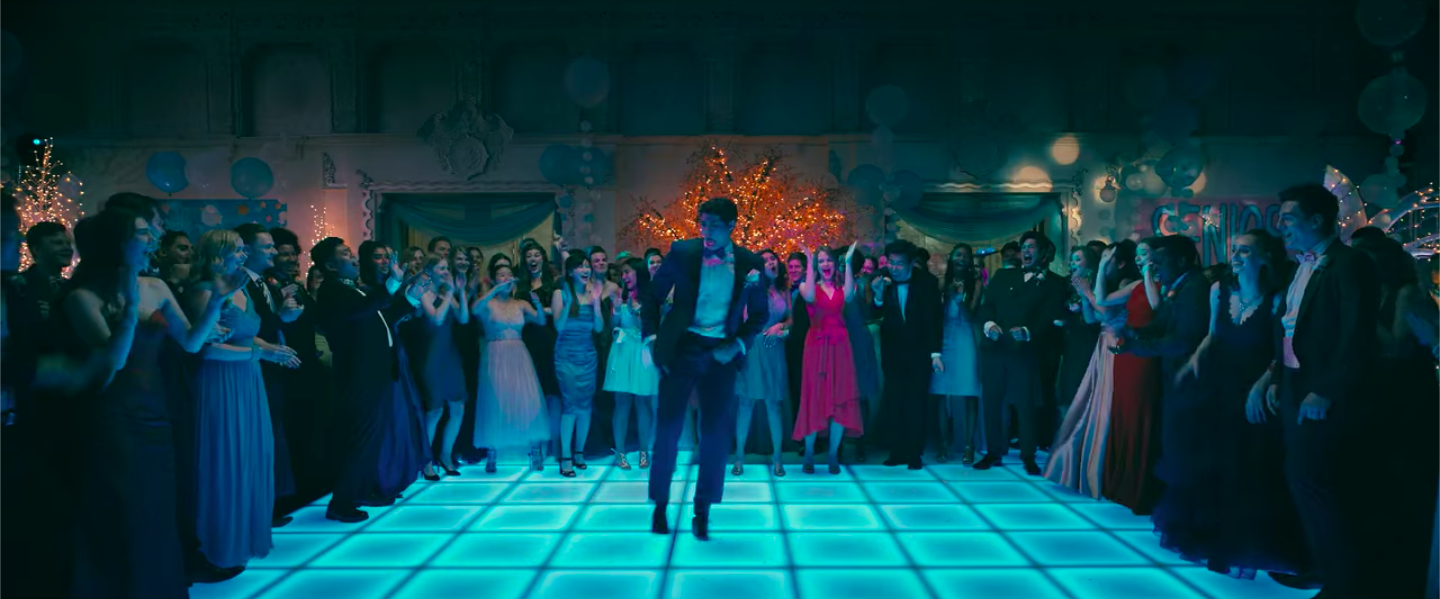 "Peter Kavinsky on the dance floor at prom in ""To All The Boys: Always and Forever"""
