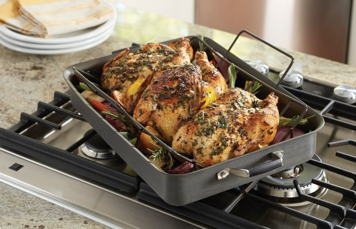 The non-stick roaster and rack