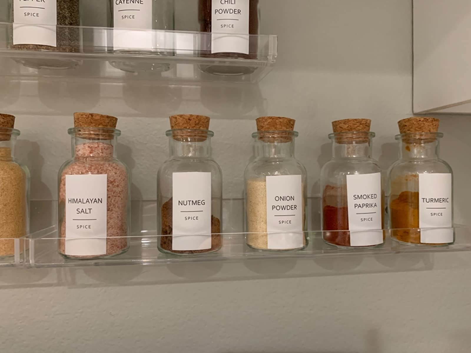 reviewer photo showing the labels on their spice jars