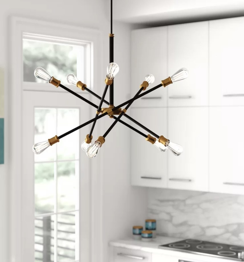 Black sputnik chandelier